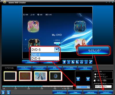 Sonne DVD Creator DVDビデオの作成
