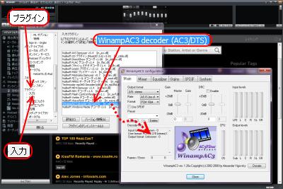WinampAC3 - AC3/DTS decoder 設定