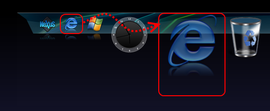 Winstep Nexus Dock追加アイテム移動