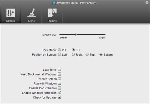 XWindowsDock  基本設定