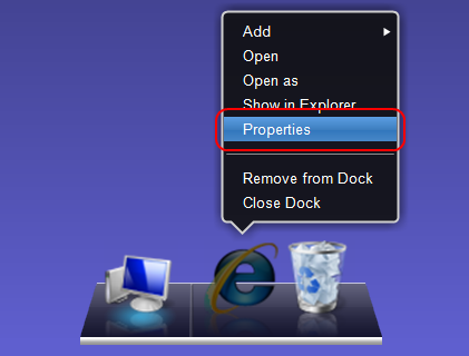 XWindowsDock 追加アイテムの設定
