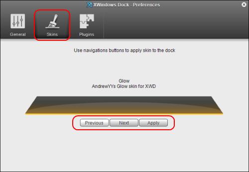 XWindowsDockスキン設定