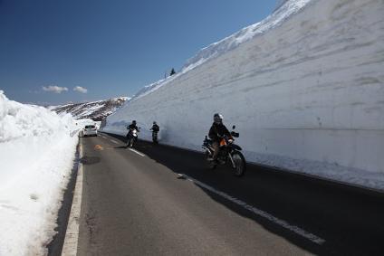 志賀草津道路 雪の回廊 ピーク部分 その2