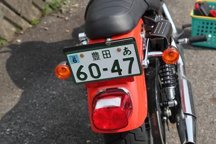 883R 純正ウィンカー、ナンバー