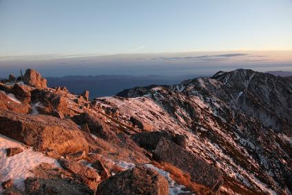 南駒ケ岳へ続く稜線 空木岳より