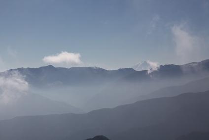 両神山山頂から富士