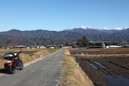 南アルプスとマイバイク in 駒ヶ根付近