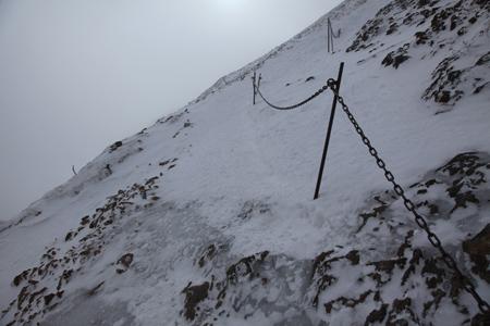 赤岳への取り付き?は凍結多し