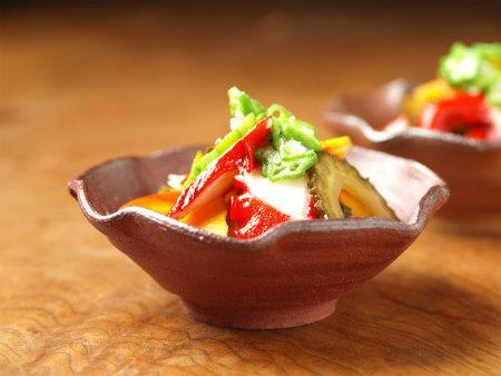タコと夏野菜の和風マリネ09