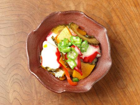 タコと夏野菜の和風マリネ12