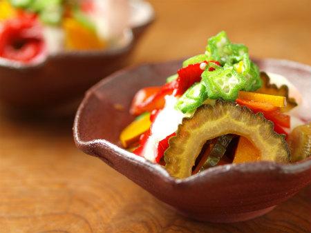 タコと夏野菜の和風マリネ14