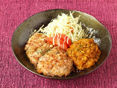 キーマカレー鶏パン粉焼き33