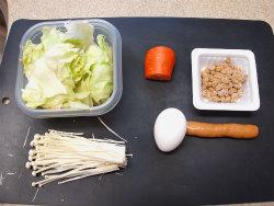 レタス納豆炒め01