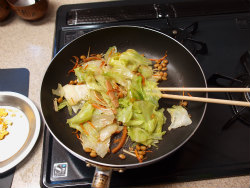 レタス納豆炒め16