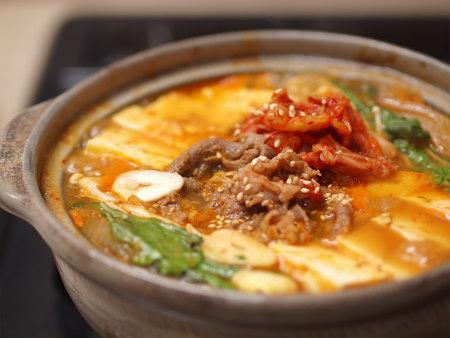 キムチ牛鍋16