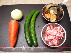 きゅうりと豚肉の味噌炒め01