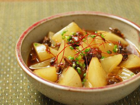 大根と赤貝のピリ辛レンジ煮24