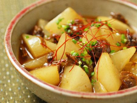 大根と赤貝のピリ辛レンジ煮25