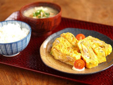 ツナとチーズのたまご焼き21