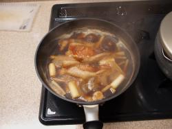 赤魚煮付け蕎麦23