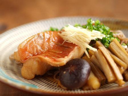 赤魚煮付け蕎麦36