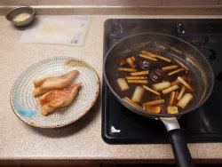 赤魚煮付け蕎麦24