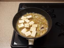 いかと豆腐の味噌煮12