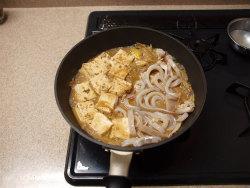 いかと豆腐の味噌煮15
