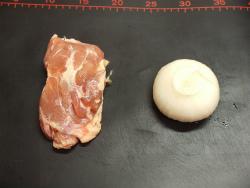 鶏もも塩焼き、新玉ぽん酢焼01