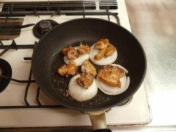 鶏もも塩焼き、新玉ぽん酢焼08