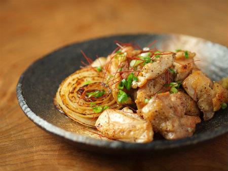 鶏もも塩焼き、新玉ぽん酢焼14