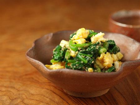 ほうれん草と炒り卵の胡麻和36