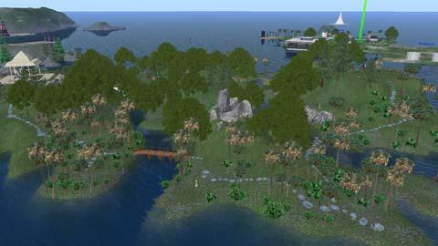 オリエンテーション島全景