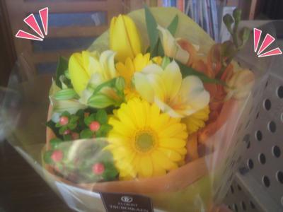わ~、お花だ^^