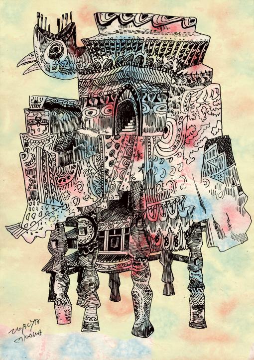 椅子の家(カラー)