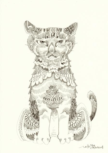 鉛筆ドローイング猫