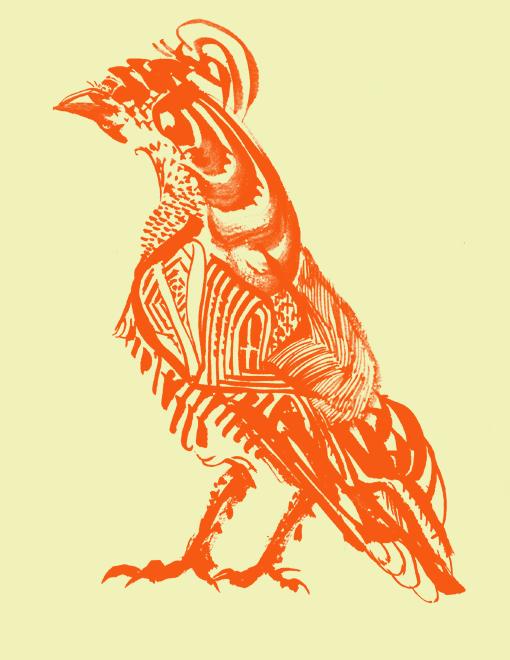 鳥(朱色ver)
