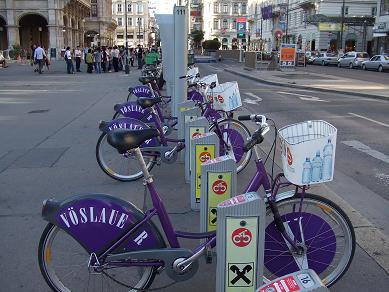 たくさん自転車があるね!