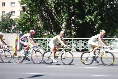 真夏でも自転車!