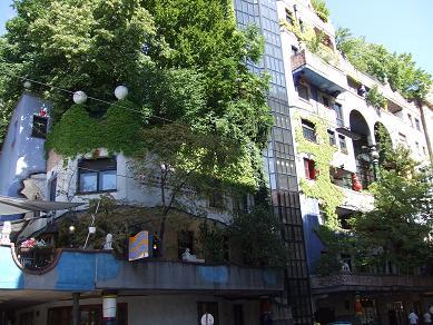 建物から木が生えてる!