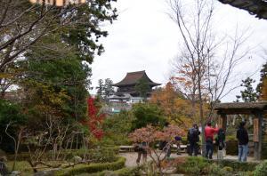 吉水神社からの金峯山寺