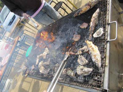 アユと牡蠣
