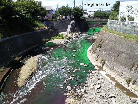 エメラルドグリーンの川