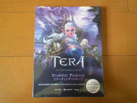 韓国のオンラインゲーム「TERA」のパッケージ