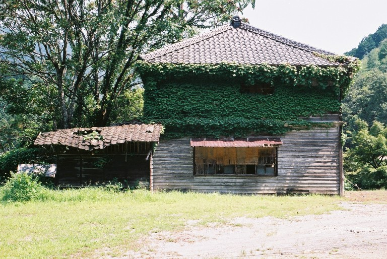 鳳来寺の廃屋-1 leica m3,elmar f:3.5/50mm