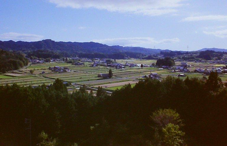 農村景観日本一の展望台から