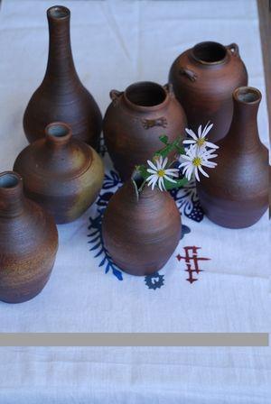 焼き締め花瓶各種46