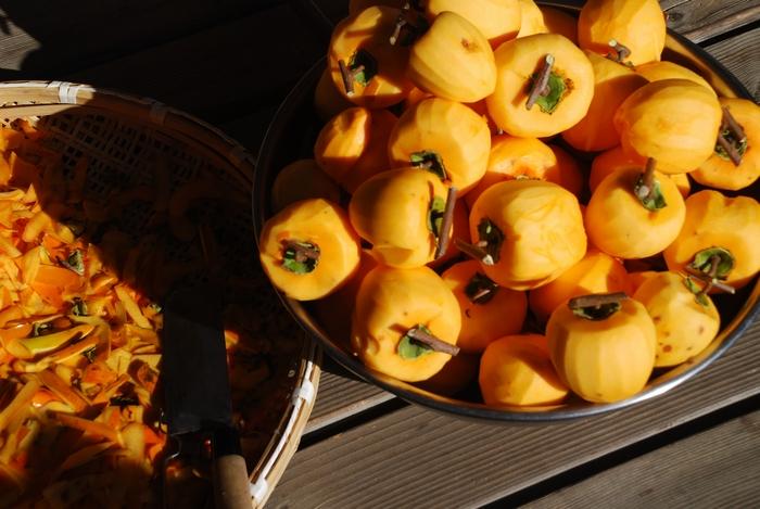 干し柿準備1