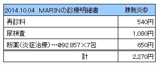 20141004 診療明細書【MARIN】