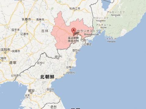 尹東柱 出身地の地図